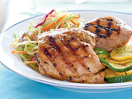 Chicken with Apricot and Mustard Glaze