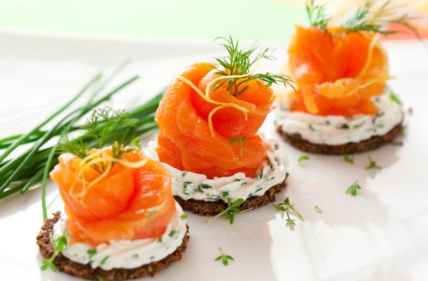 Refined salmon morsel