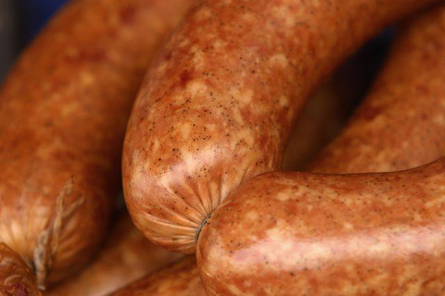 Amazingly appetizing homemade sausage