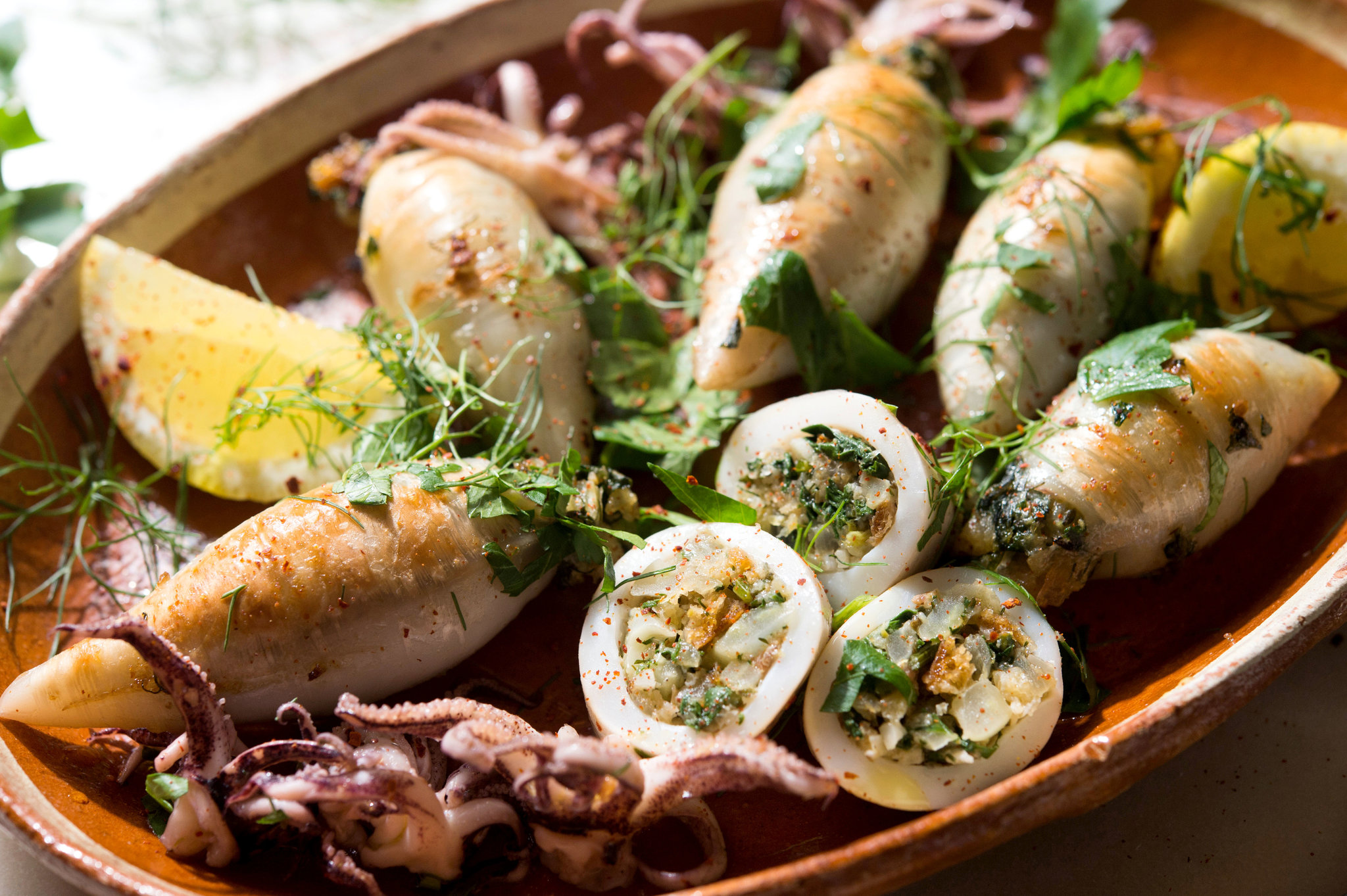 Dietary stuffed squids