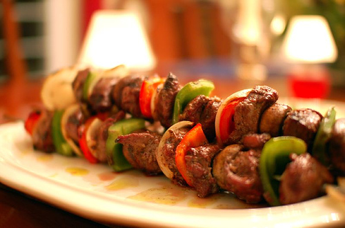 Barbecued Lamb Kebabs