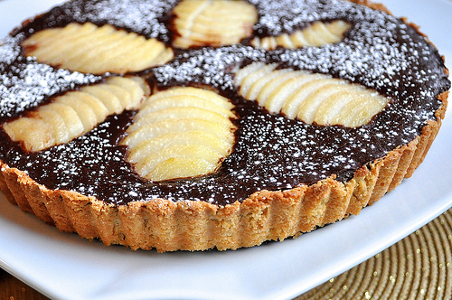 Chocolate Pear Quiche