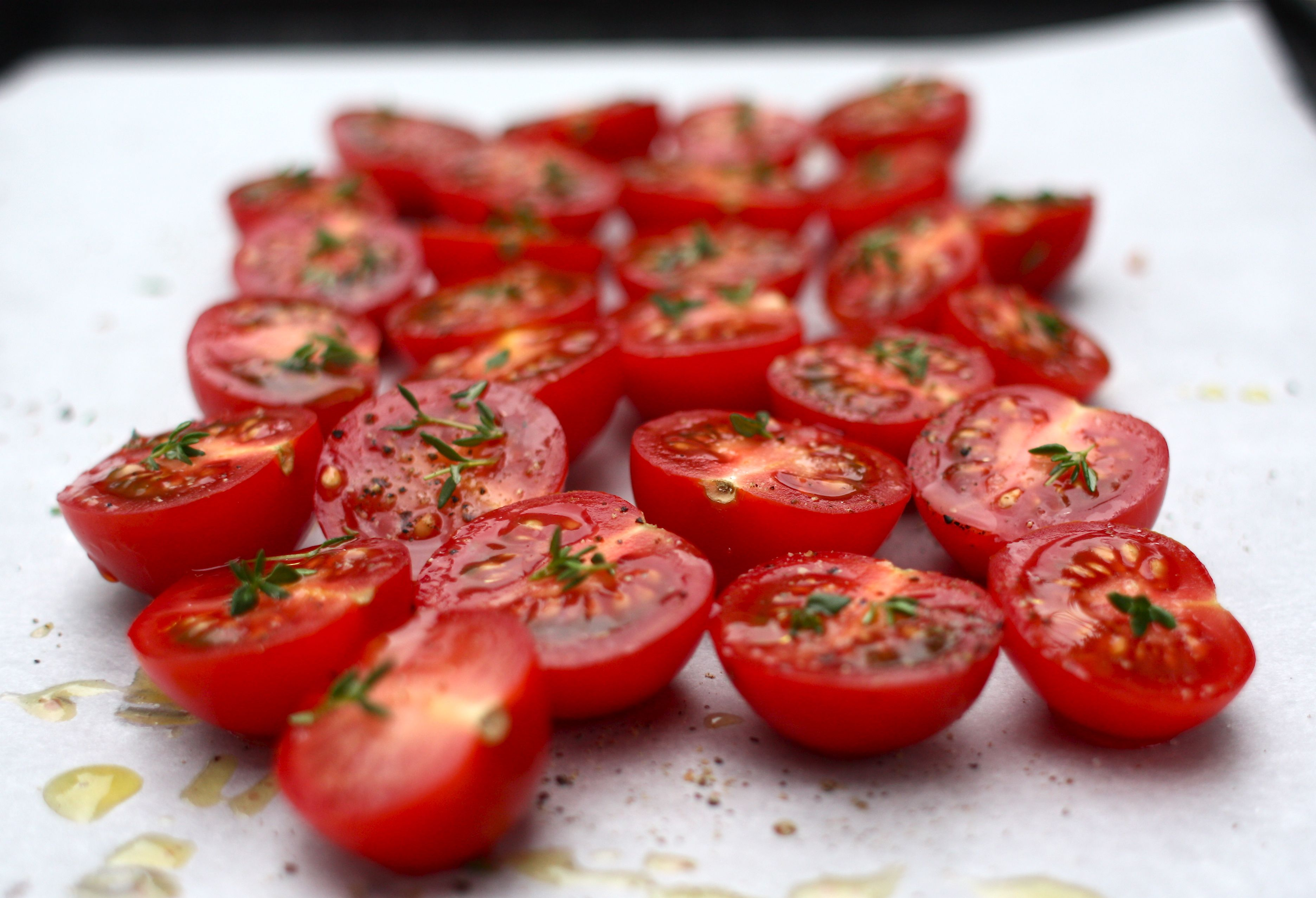 Amazing appetizer: hot tomatoes