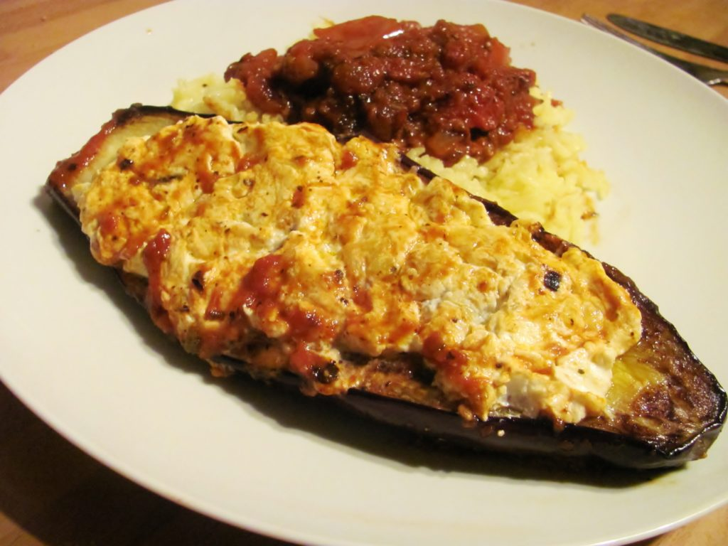 Amazing fried eggplants with cheese