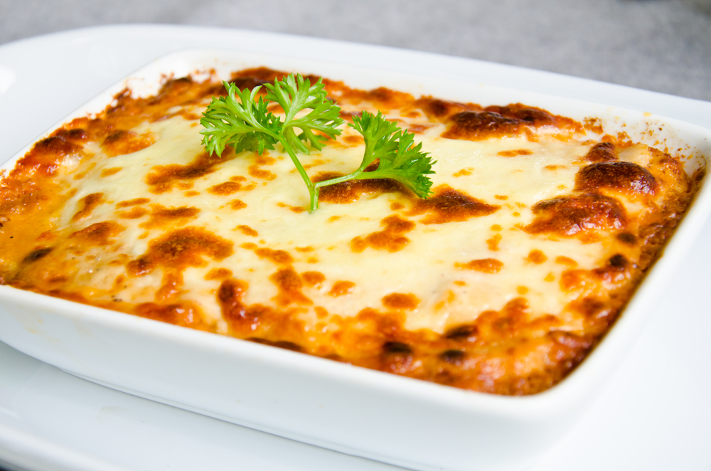 Appetizing lasagna from zucchini