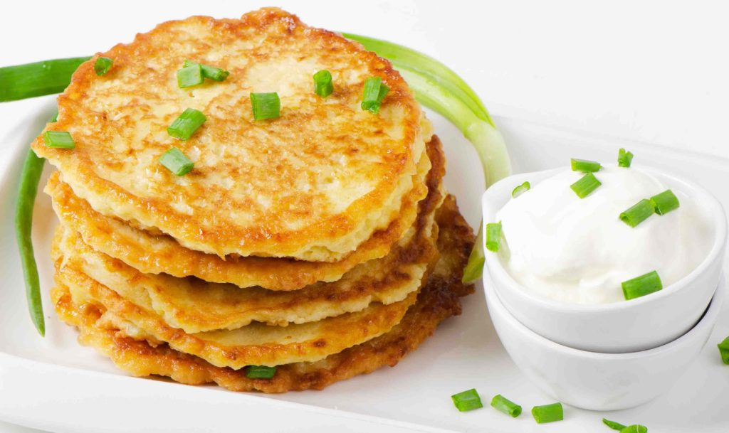 Appetizing potato cakes