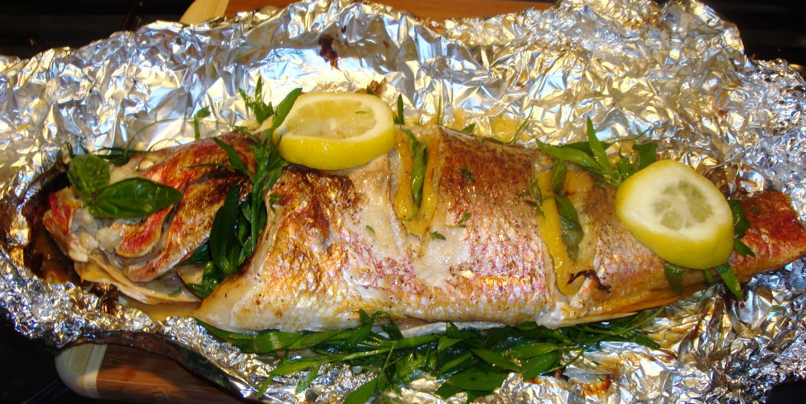 Barbecued Foiled Fish