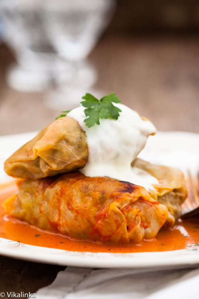 Delicate dietary Chinese cabbage rolls