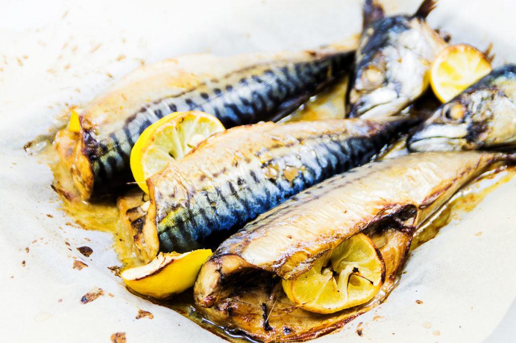 Delicious baked mackerel