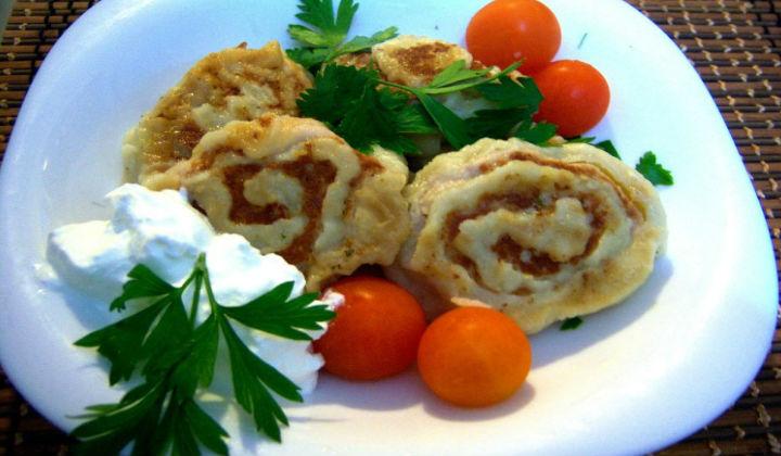 Delicious lazy fried dumplings