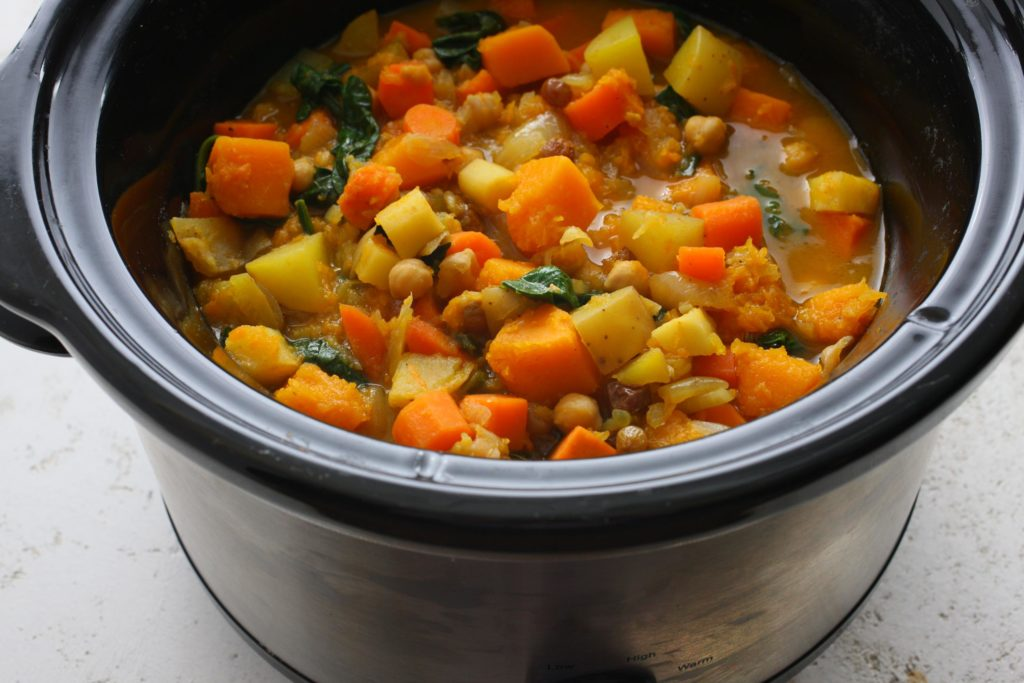 Delicious vegetable stew with potatoes