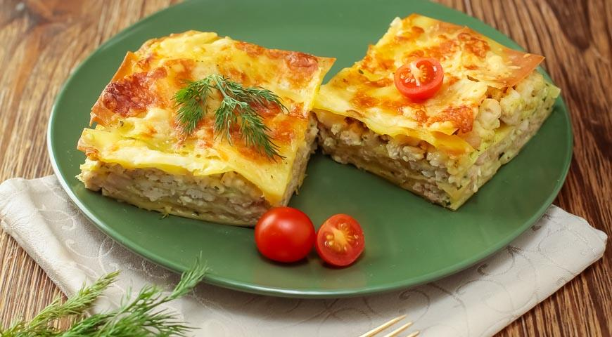 Exquisite lasagna from lavash