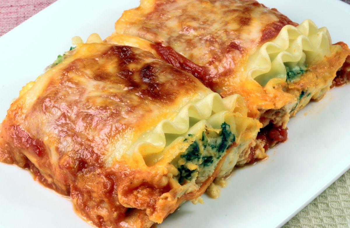 Hearty low-calorie lasagna