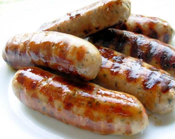 Incredible appetizing homemade sausage