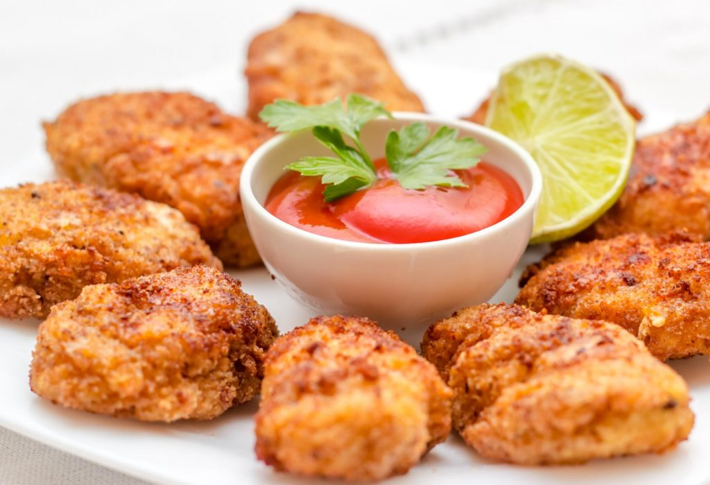 Juicy and crunchy chicken nuggets