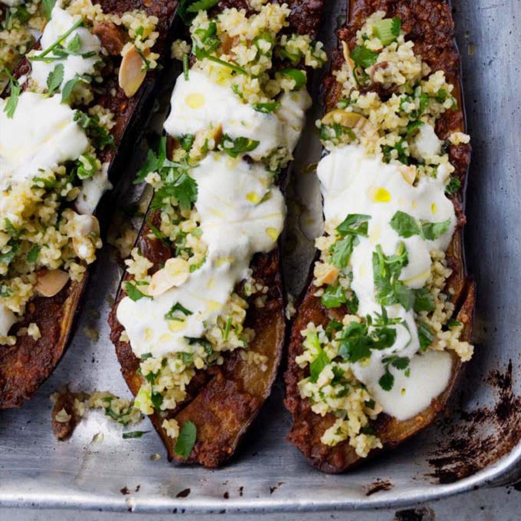 Perfect eggplants in sour cream, like mushrooms