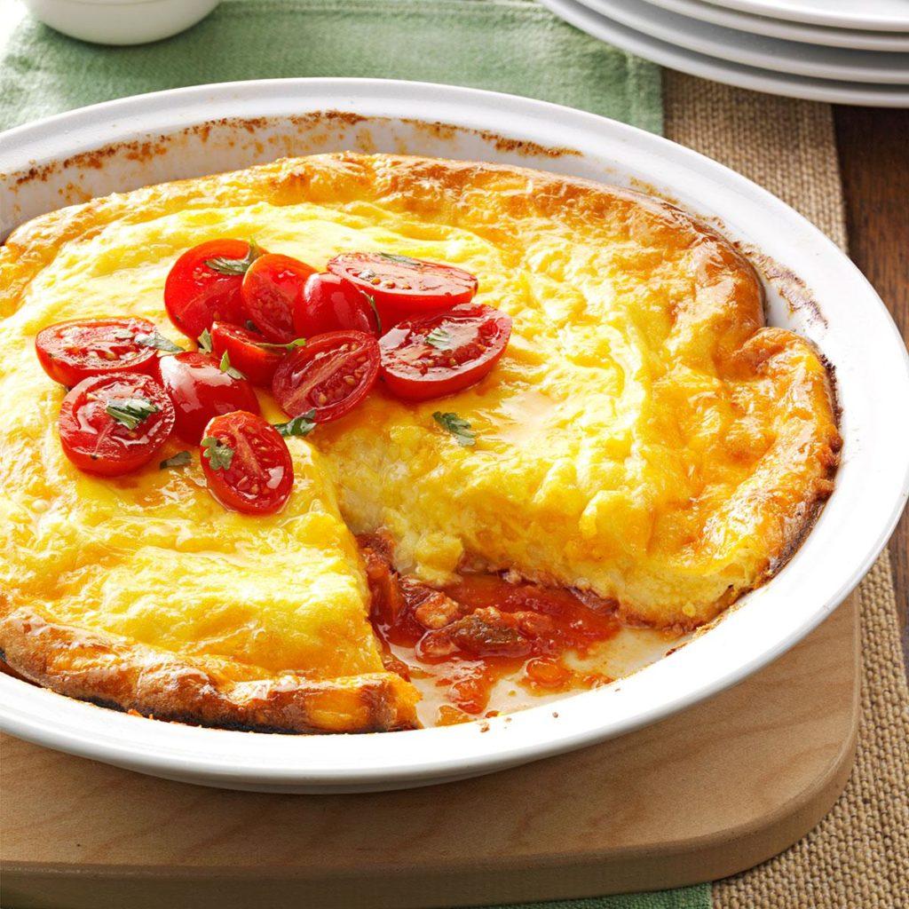 Unforgettable pie-omelet for breakfast