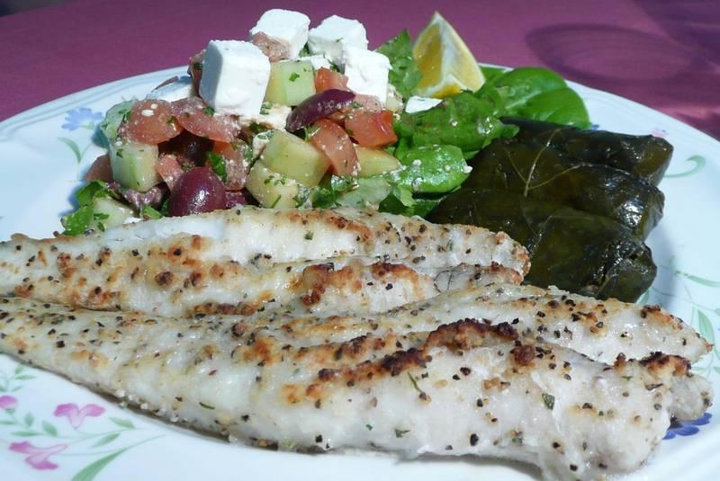 Sophisticated cod in Greek manner