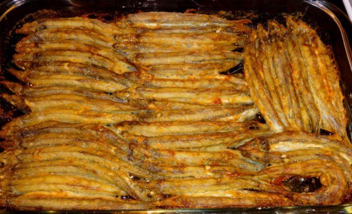 Stunning baked capelin