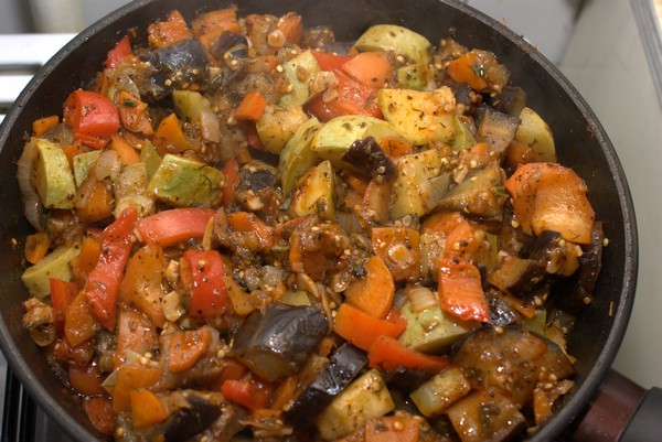 Very tasty sauté from eggplant