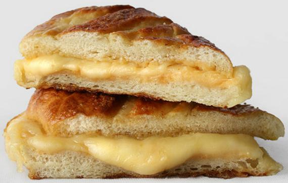 Delicious hot mozzarella sandwiches