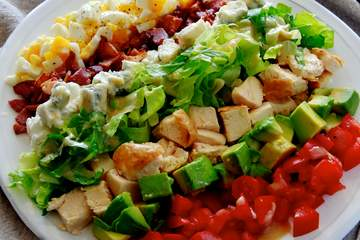 Famous American salad Cobb