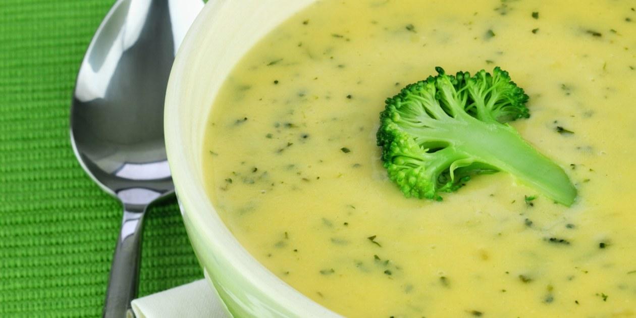 Delicious creamy broccoli soup
