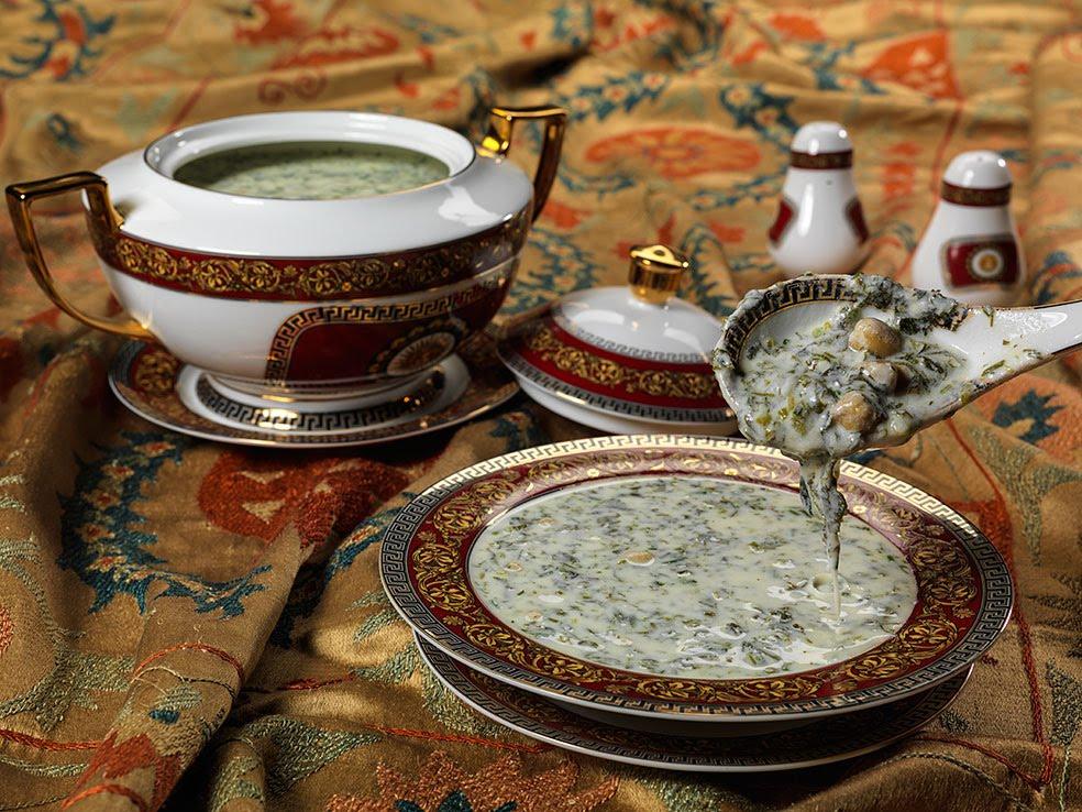 Cold Azerbaijani Dovga soup
