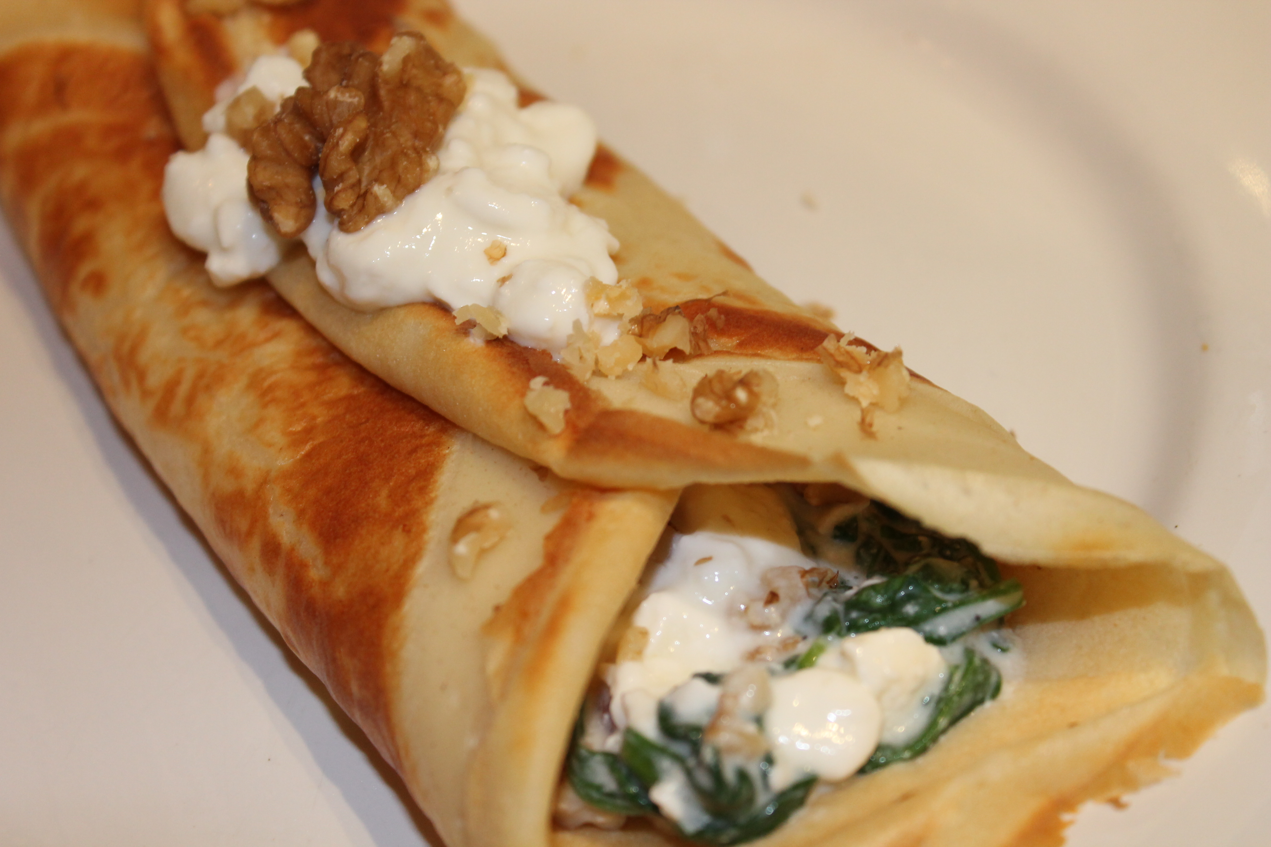 Spinach and Cheese Crepes