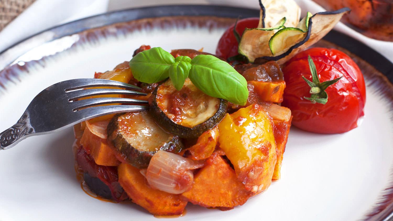 Colorful Mediterranean vegetable Stew
