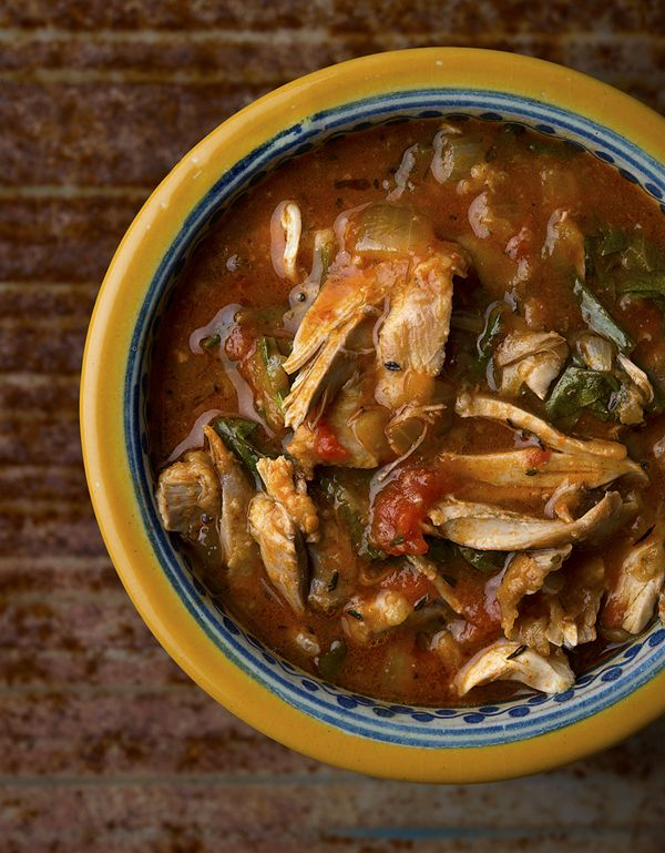 Delicious rabbit soup in a multi-cooker