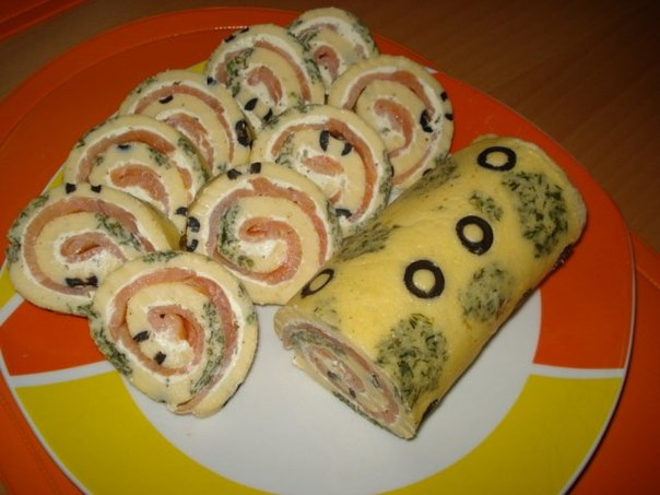 Stunning snack or tiger roll