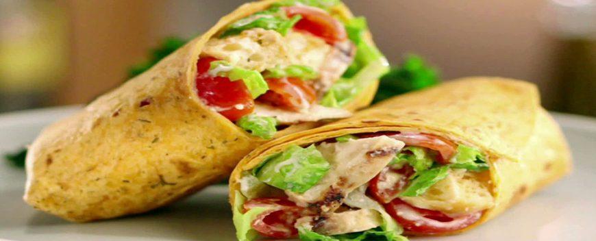 Ideal shawarma with kefir sauce
