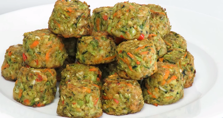 Ideal appetizer: vegetables with cheese