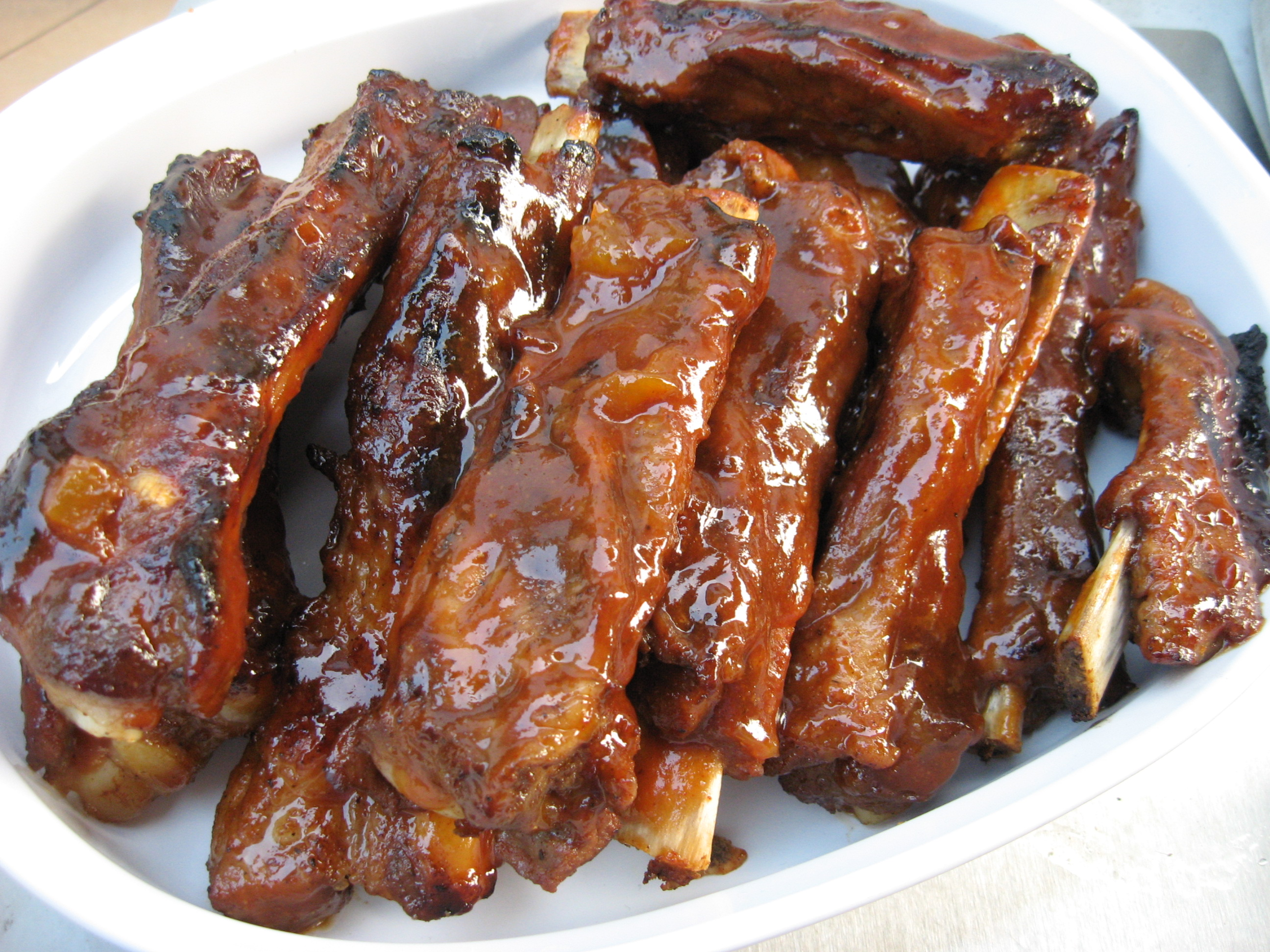 Simple barbecue ribs