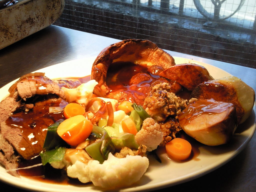 Delicious homemade roast
