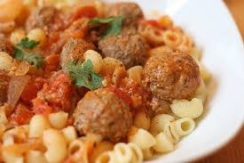 Delicious lunch: meatballs in creamy sauce