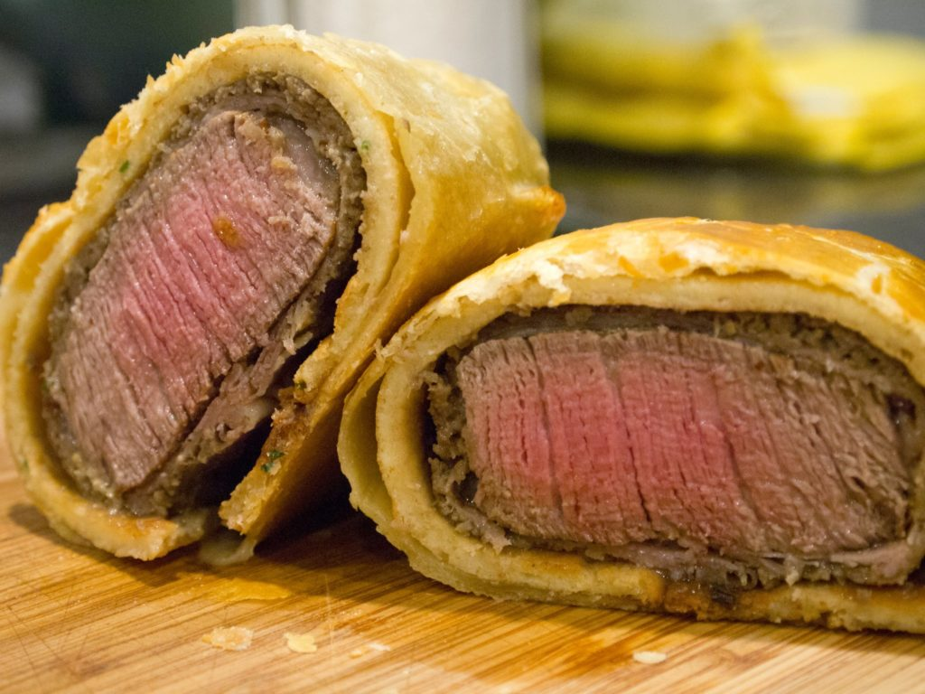 Famous beef Wellington from Gordon Ramsey