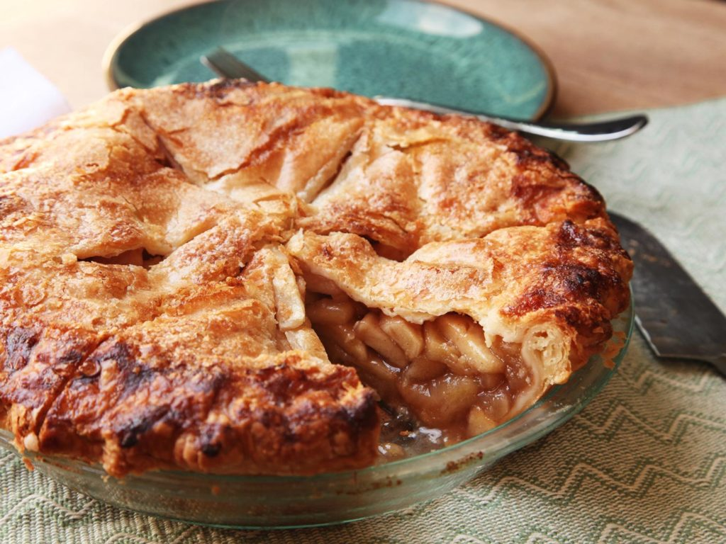 Fresh and juicy apple pies
