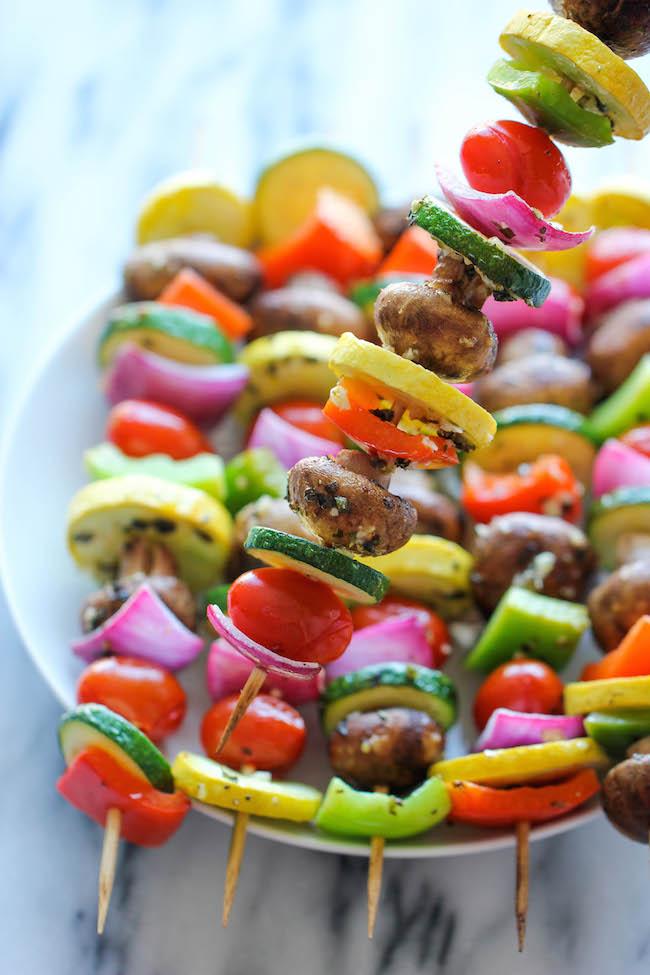 Fruit and Vegetable Kebabs