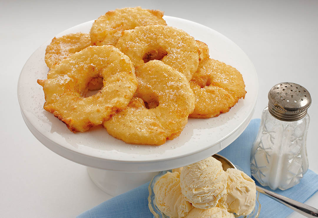 Pineapple and Apricot Fritters