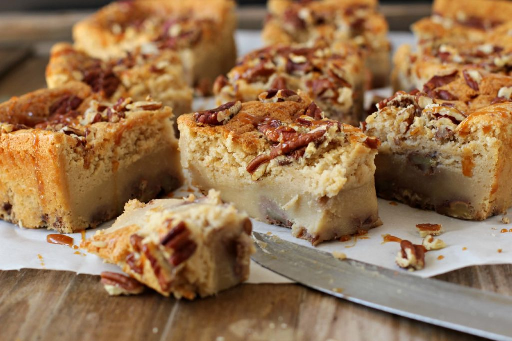 Unforgettable Pecan Cake Bars