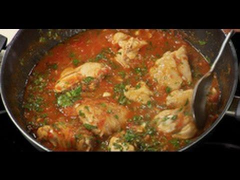 Spicy dish of Georgian cuisine: Chahohbili from chicken