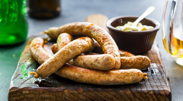 "The most delicious homemade sausages ""Hungarian"" from mixed stuffing"