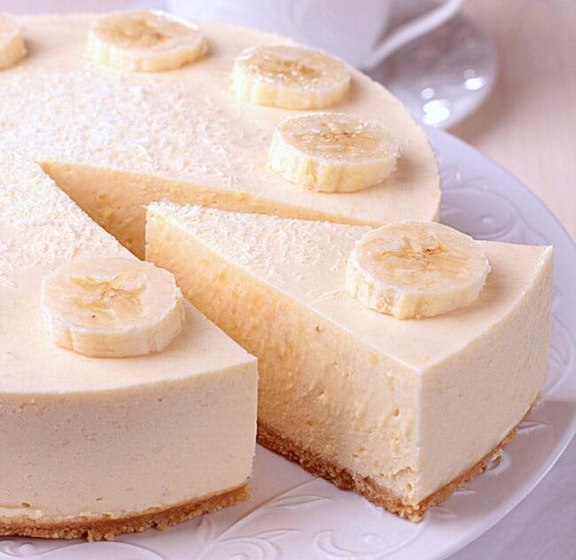 Banana cheesecake without baking
