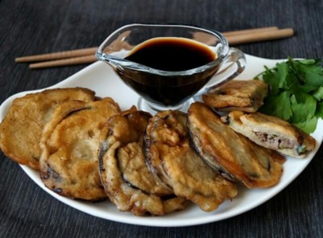 Amazing eggplants with meat
