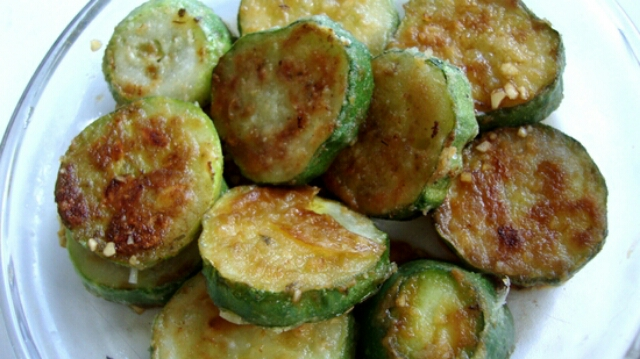 Delicious fried cucumber