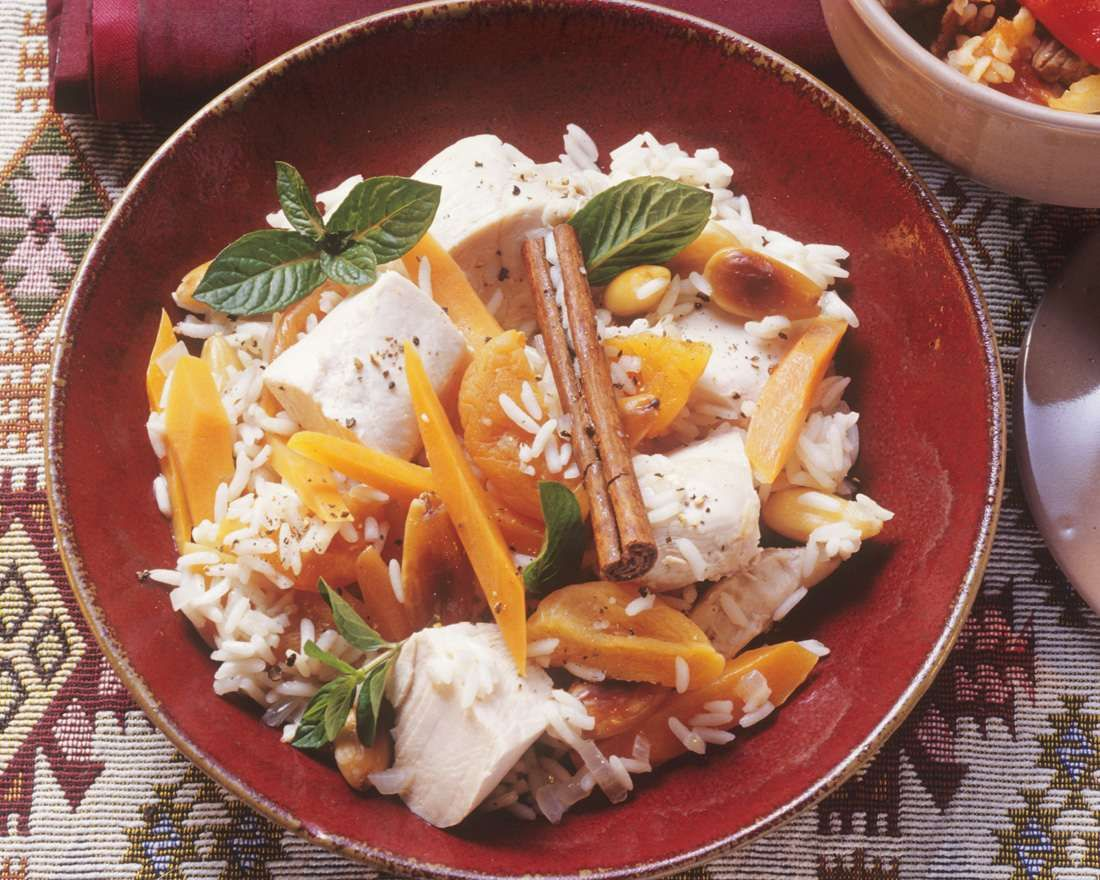 Chicken Pilaf with Apricots