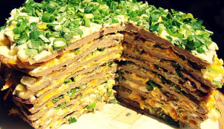 Salad-cake «Gourmet dream»
