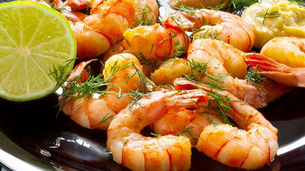 Shrimps with lemon and garlic